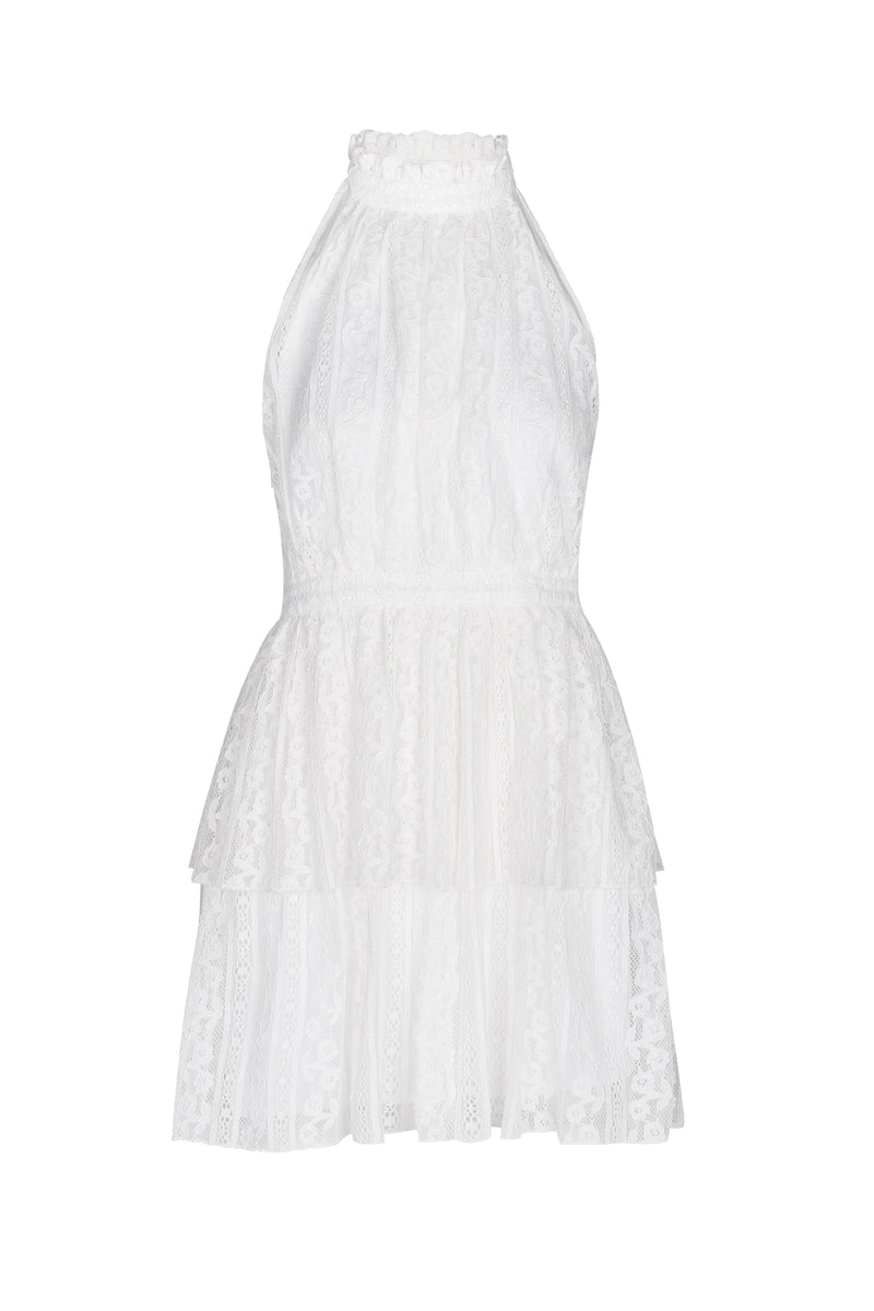 Neve Halter Dress- White