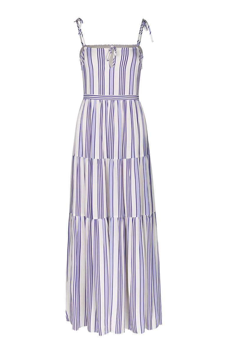 Sabina Maxi Dress-Blue Stripe