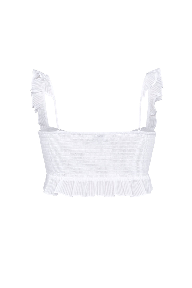 Lilah Crop- White