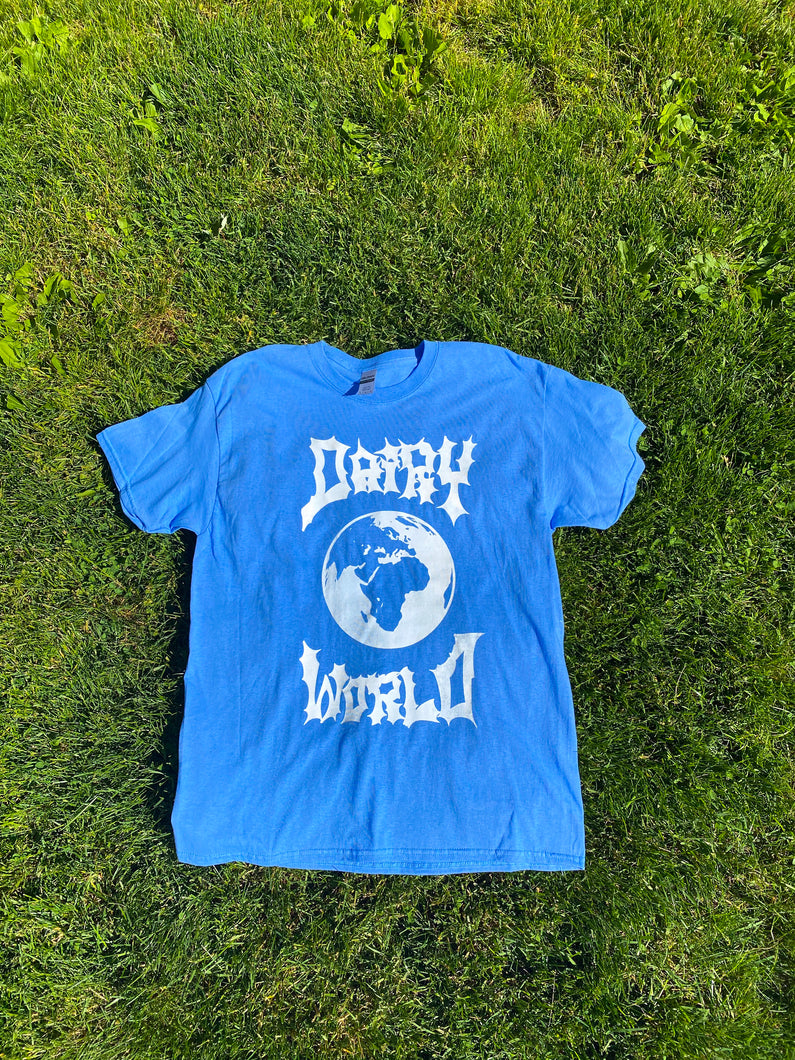 White/Blue Dairy World Logo Tee