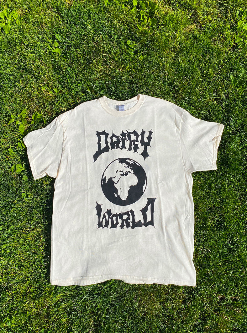 Black Dairy World Logo Tee
