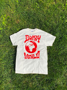 Red Dairy World Logo Tee