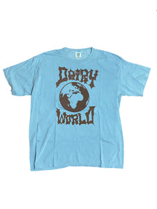 Denim Blue/Brown Dairy World Logo Tee