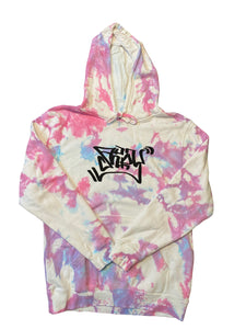 Cotton Candy Clouds Graffiti Hoodie Medium