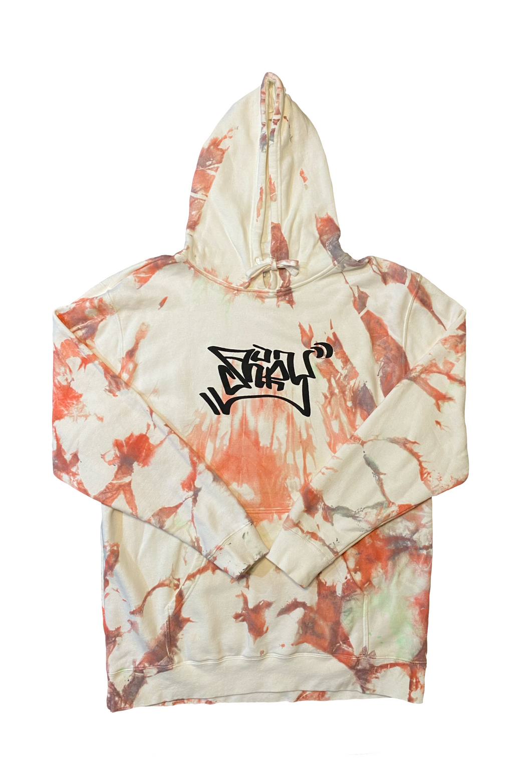Mossy Coral Graffiti Hoodie X-Large