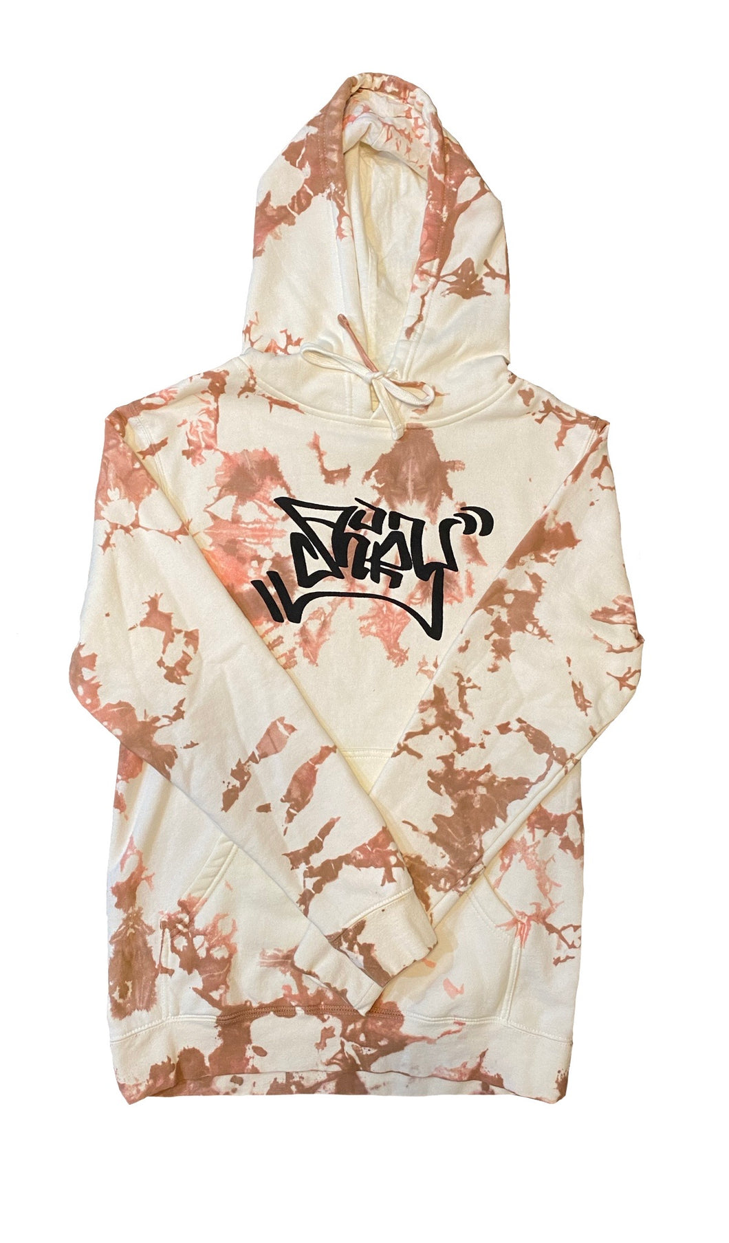 Strawberry Chocolate Graffiti Hoodie Small