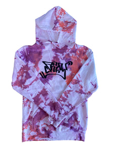 Perplexing Purple Graffiti Hoodie Small