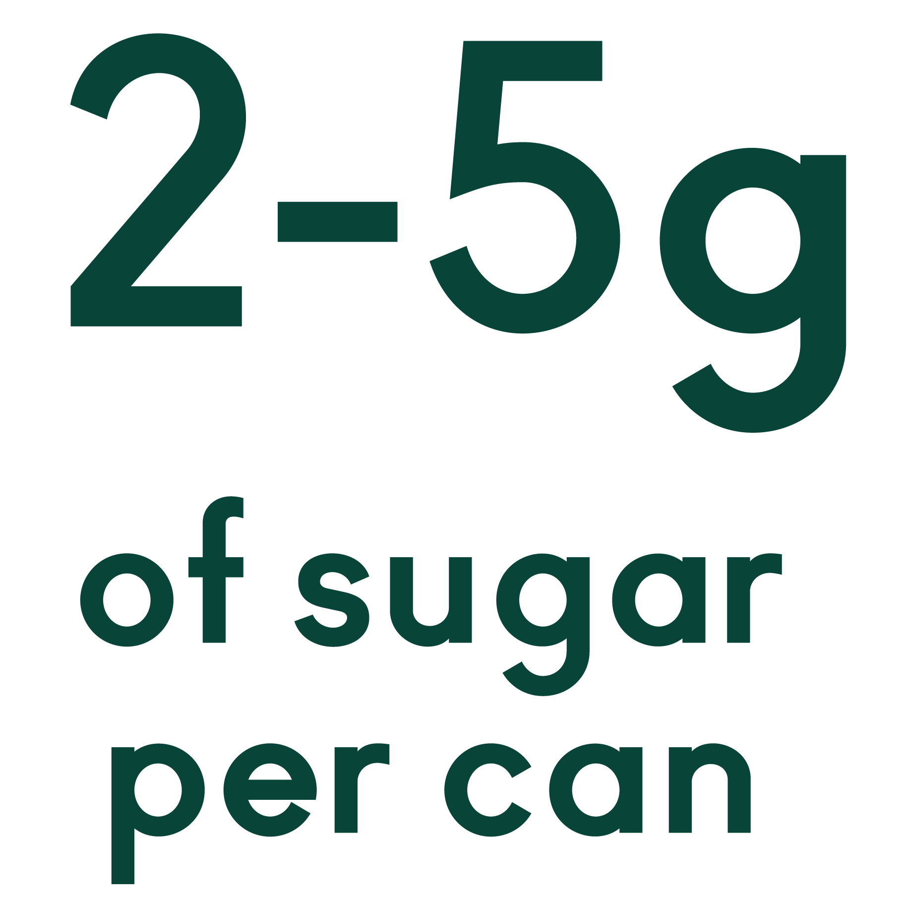 2-5 grams of sugar per can