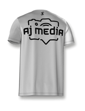 Load image into Gallery viewer, White & Black LockDown x AJ Media Tech Tee - LockDown Team Store