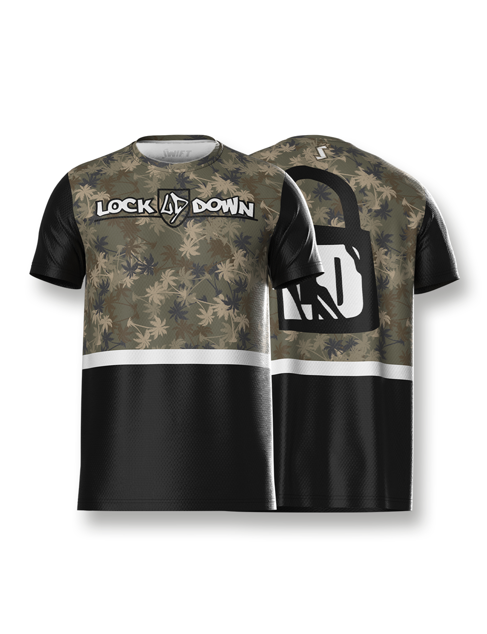 Tropical Camo Tech Tee - LockDown Team Store