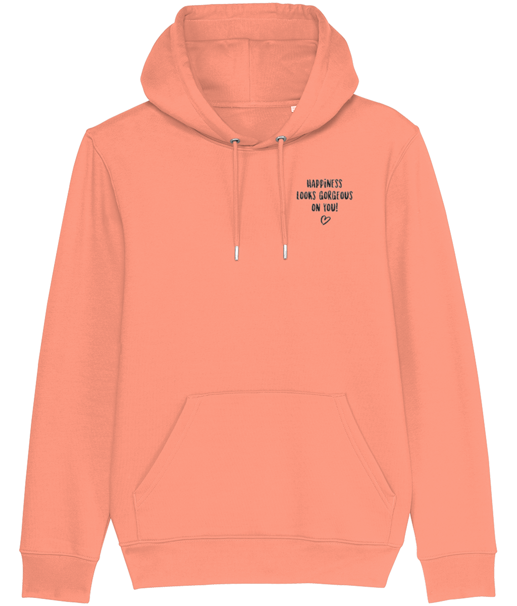 Organic HAPPINESS Hoodie (Embroidered)