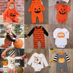 2019 Happy Halloween Outfits Newborn Infant Kids Baby Girl Boy Long Sleeve Romper Cotton Kid Unisex Pumpkin Print Rompers
