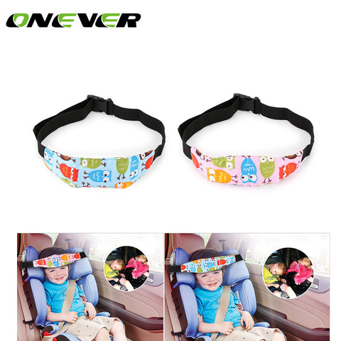 Baby Stroller Accessories Adjustable Car Safety Seat Sleep Positioner Strollers Baby Head Support Fastening Belt