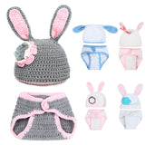 Baby Newborn Photography Props Knitted Rabbit Costume for Baby Photography Photo Props Accessories Fotografia Baby Hat