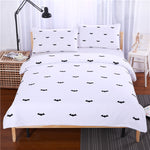 BeddingOutlet Bat Bedding Set Black and white Printing Duvet Cover Set with Pillowcases Fashional Bedspread Soft 2017 Bedclothes
