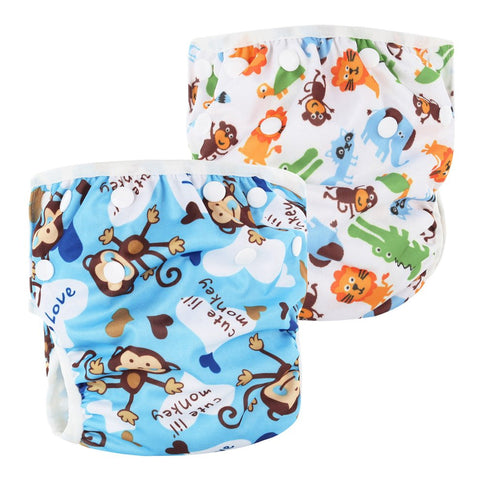 Washable Baby Unisex Adjustable Swim Diaper Pool Pant Waterproof Reusable Baby Training Swimming Diaper Swimsuit