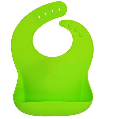 Waterproof Silicone Bib Easily Wipes Clean for Baby