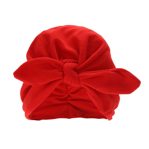 Baby Girls Boys Cute Soft Hats With Bow Children Spring Autumn Candy Color Caps Newborn Baby Hospital Caps Kids Accessories