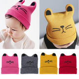 Newborn Baby Cute Hat Kids Spring Autumn Winter Cartoon Cat Beanie Knitted Hats Girls Boys Soft Casual Caps Kids Accessories