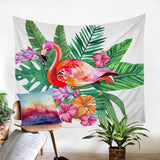 BeddingOutlet Flamingo Tapestry Animal Printed Sheet Pink and White Wall Hanging Decorative Wall Tapestries