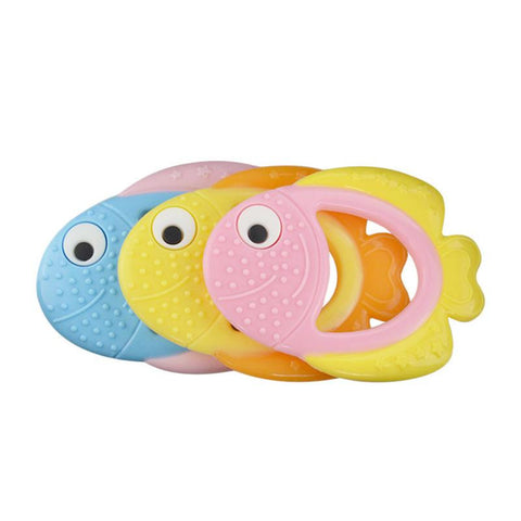 Clown Fish Shape Baby Teether Baby Teething Toys Food Grade Silicone Teether Baby Dental Care Strengthening Tooth Training