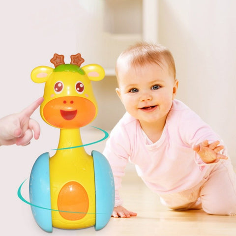 New Baby Rattles Tumbler Doll Baby Toys Sweet Bell Music Roly-poly Gifts Baby Bell Baby Toys Learning Education Toys