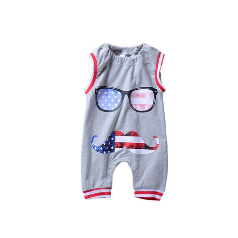 Summer Newborn Baby Cotton Rompers Lovely Cartoon Baby Boy Girls Sleeveless Baby Costume Jumpsuits Roupas Bebes Infant Clothes