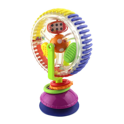 Baby Rattle Toys with Paperboard Tricolor Multi-touch Rotating Ferris Wheel Suckers Toy Creative Educational Baby Toys