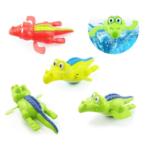 1PC Play Swimming Baby Bath Swimming Toy Crocodile Wind Up Clockwork  Baby Bath Swimming Alligator for Kid Educational Toys