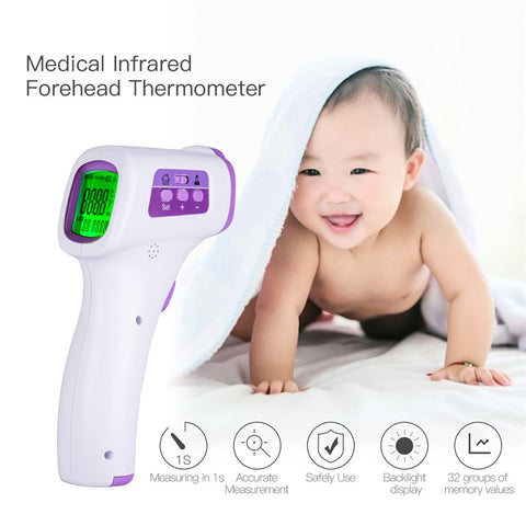 Lightweight High Accuracy Baby Infrared Forehead Thermometer Handheld Digital LED Screen Temperature Measurement Device