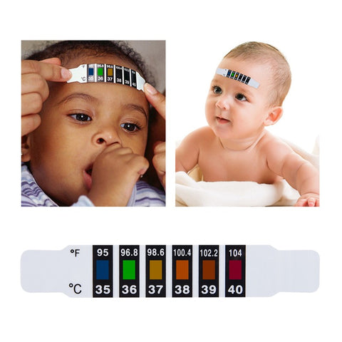 Baby Kid Thermometer Reusable Toddler Forehead Temperature Test Head Strip Flexible Thermometer 10PCS