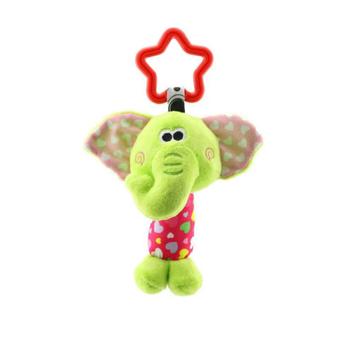 Baby Infant Cute Animal Rattle Jingle Hand Ring Bed Bells Soft Stuffed Plush Toys Kids Stroller Hanging Bells Early Educational Toy