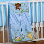 Yellow lion Printed Cotton Baby Bedding Sets Cot Hanging Storage Bag Bottles Diaper Bag Large Miscellaneously Storage Bag