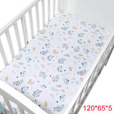 100% Cotton Crib Fitted Sheet Soft Baby Bed Mattress Cover Protector And Elastic Bed Sheet Cartoon Newborn Bedding