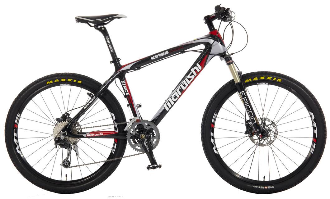 Maruishi Kings 7500 - High strength Carbon Fiber Mountain Bike (26 inch)