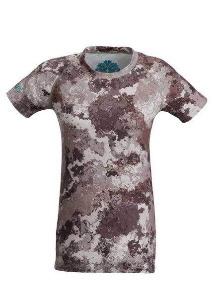 Girls with guns Stalker Performance womens hunting Base Layer Tee - Alpine camo