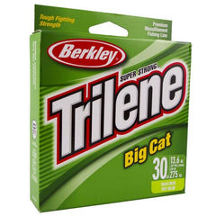 "Trilene Big Cat Monofilament Line Spool 220 Yards, 0.022"" Diameter, 30 lbs Breaking Strength, Solar"