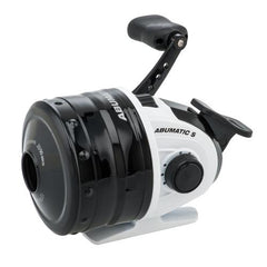 "Abumatic S Spincast Reel 15, 4.3:1 Gear Ratio, 2 Bearings, 28"" Retrieve Rate, Ambidextrous, Clam Package"