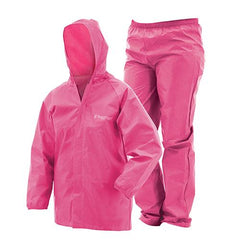 Youth Ultra-Lite Rain Suit Pink, Large