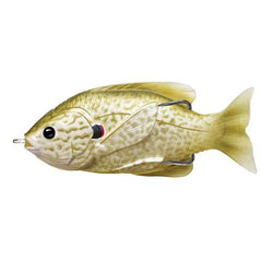 "Sunfish Hollow Body Freshwater, 3"", #3/0 Hook. Topwater Depth, Pearl/Olive Pumpkinseed"