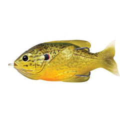 "Sunfish Hollow Body Freshwater, 3"", #3/0 Hook. Topwater Depth, Green/Bronze Pumpkinseed"