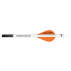 "NAP 2"" Quikfletch Twister 1-White 2-Orange"