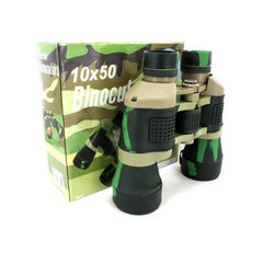Camouflage binoculars with compass and pouch ( Case of 1 )