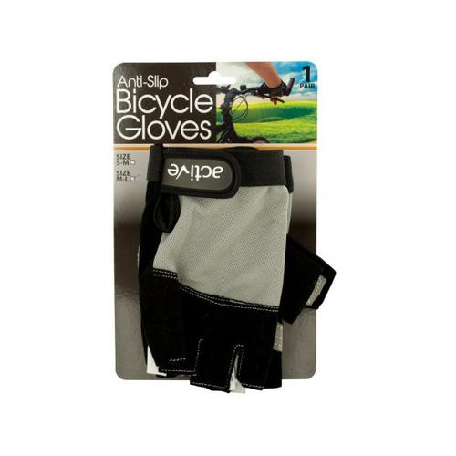 Anti-Slip Bicycle Gloves with Breathable Top Layer ( Case of 6 )