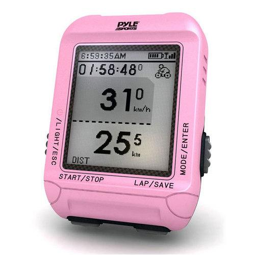 Smart Bicycling Computer with GPS Performance & Navigation Analysis Software and ANT+ Technology for Biking, Training, Exercise, Fitness (Pink Color)