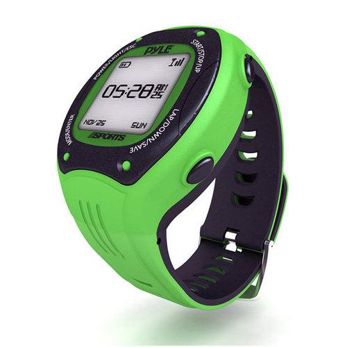 Multi-Function Digital Sports Training Fitness Smart Watch with GPS Navigation, E-Compass, ANT+ Support for Running, Walking, Jogging (Green Color)