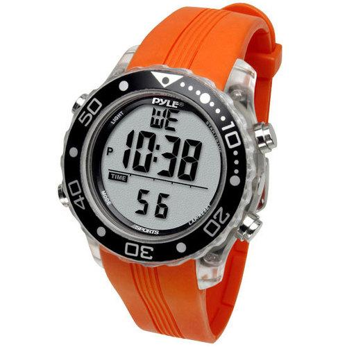 Waterproof Underwater Snorkeling & Diving Multi-Function Water Sport Wrist Watch with Dive Mode, Chronograph, Stopwatch, Water Temperature, Dive Depth & Duration (Orange Color)