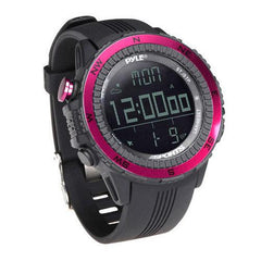Digital Multifunction Active Sports Watch with Altimeter, Barometer, Chronograph, Compass, Count-Down Timer, Measuring & Weather Forecast Modes (Pink)