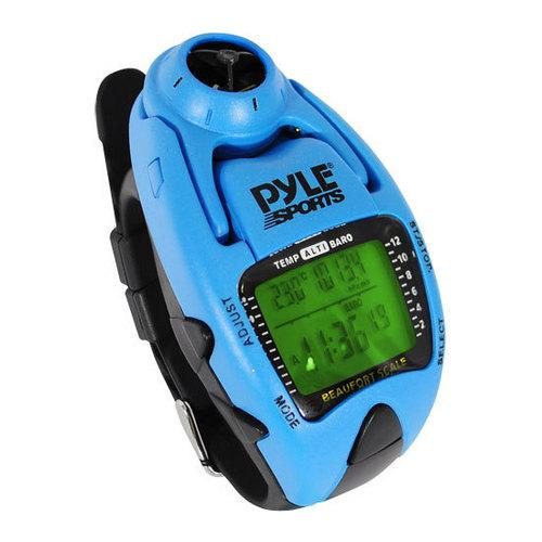 Wind Speed Meter w/ Wind Chill Temp., Altimeter, Barometer, Compass, 10 Laps Chronograph Memory, Yacht Timer (Blue Color)