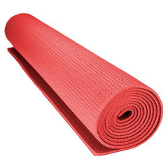 1/8-inch (3mm) Compact Yoga Mat with No-Slip Texture - Red